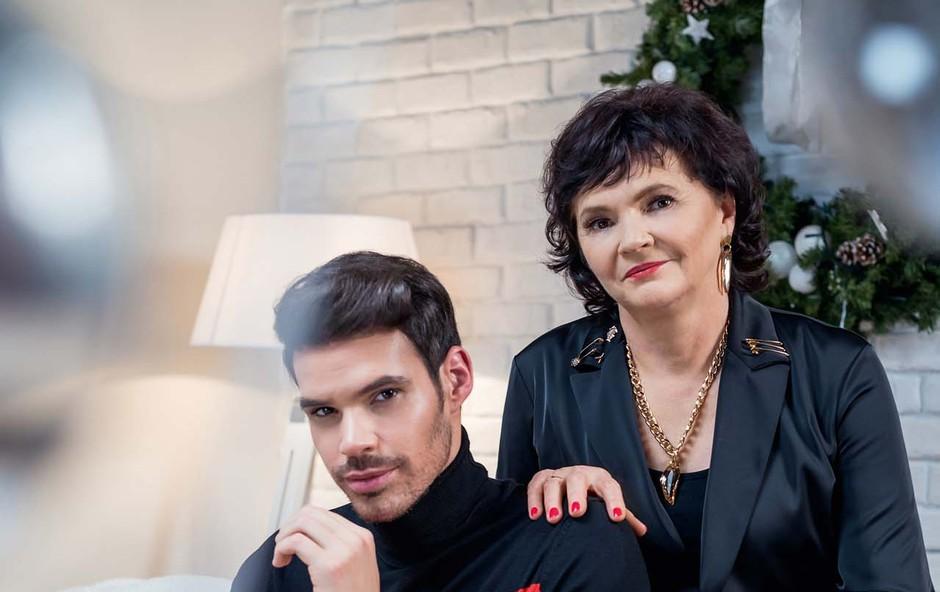 Matjaž Kumelj prvič javno predstavi svojo simpatično mamo Marjeto (foto: Ivan Bliznetsov)