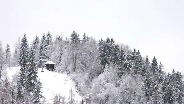 V avstrijskih Alpah je zaradi močnega sneženja obtičalo več tisoč ljudi (foto: STA)