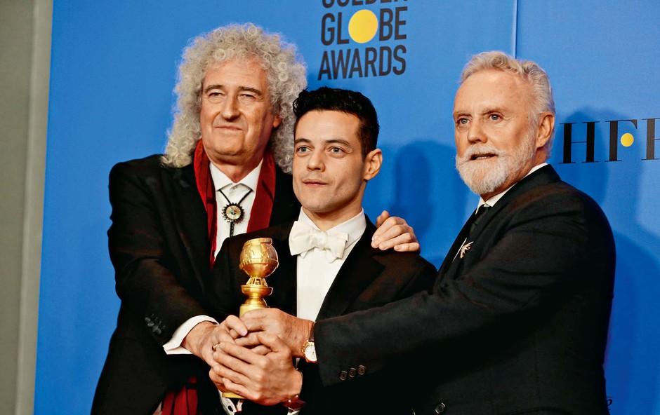 Zlati globusi: Slavje za dramo Bohemian Rhapsody (foto: Profimedia)
