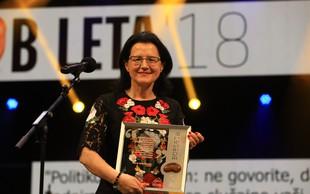 Bob leta 2018 prejela dr. Verica Trstenjak