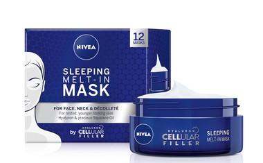Nočne maske, ki se stopijo na koži
