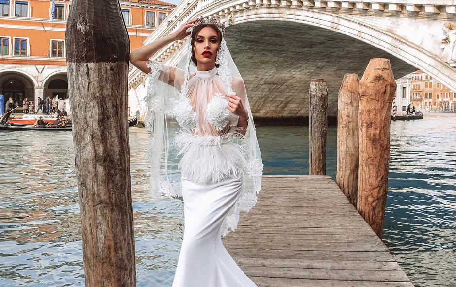 Anja Jenko je bila prava atrakcija za turiste v Benetkah! (foto: Tibor Golob)