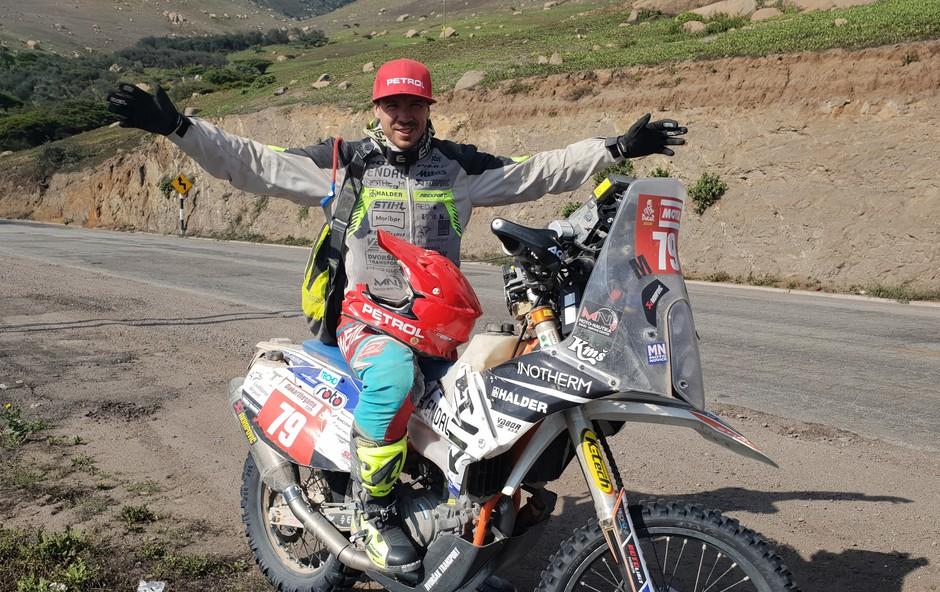 Simon Marčič v perujski puščavi (foto: osebni arhiv)
