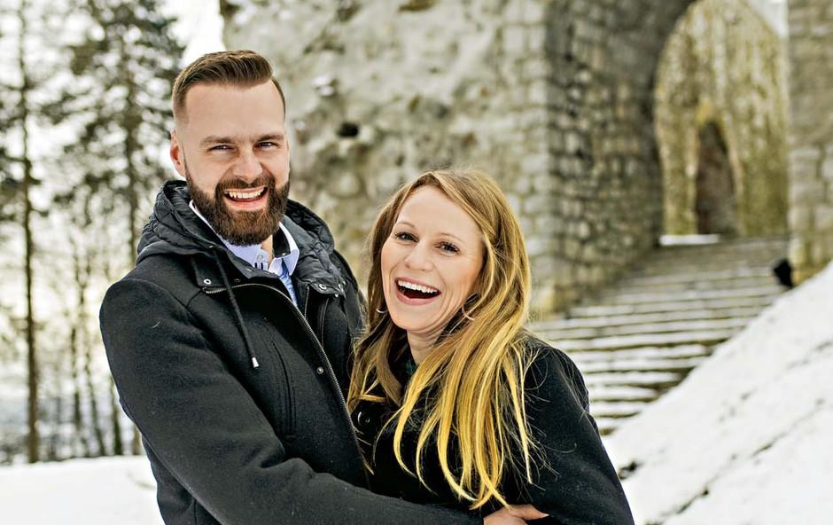 Jasmina Šmarčan in Samo Kališnik vsak dan bolj zaljubljena! (foto: Igor Zaplatil, Tilyen Mucik, Zaklop, osebni arhiv)