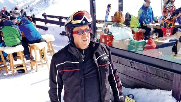 Peter Lovšin v zasneženi Avstriji (foto: osebni arhiv)