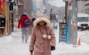 Bizarno vreme: Vzhod Kanade tokrat presenetljivo zasnežilo z juga!