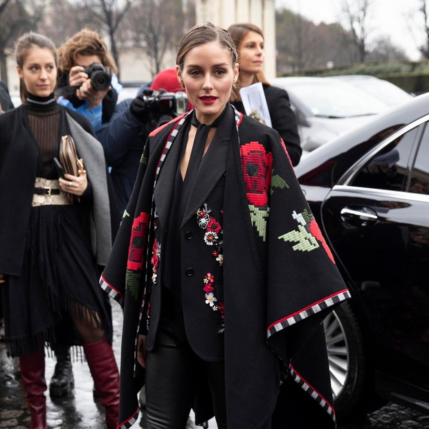 Olivia Palermo (Fotogalerija): Ovita v črno