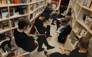 Čajanka knjižnih blogerk in blogerjev v Beletrinini knjigarni
