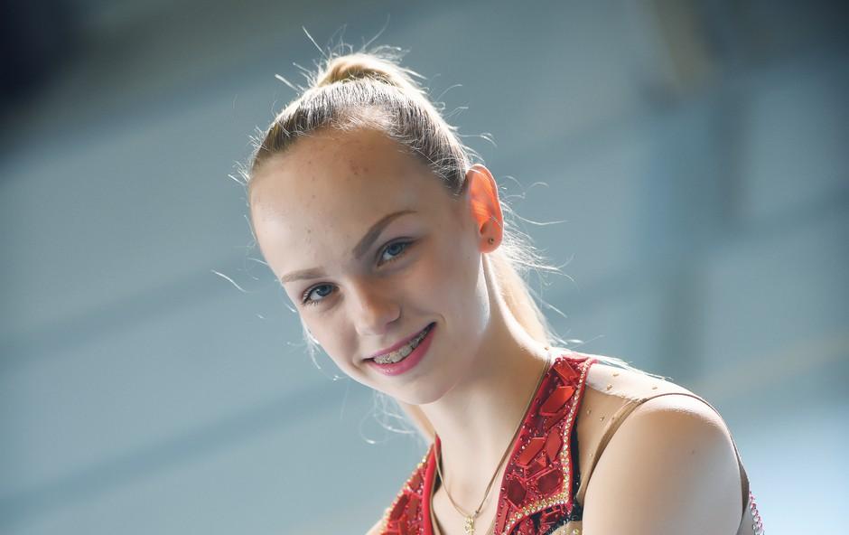 Finalistka Mladi upi 2018: Ritmična gimnastičarka Aleksandra Podgoršek (foto: Mateja Jordovič Potočnik)