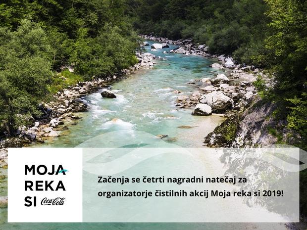 Natečaj Moja reka si 2019 že četrtič nagrajuje organizatorje čistilnih akcij (foto: Moja reka Press)