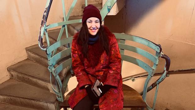 Tinkara si je v Nemčiji vzela  tudi čas zase ter v Berlinu  obiskala Brandenburška vrata  ter se pogumno povzpela na  Slavolok zmage. (foto: OSEBNI ARHIV)