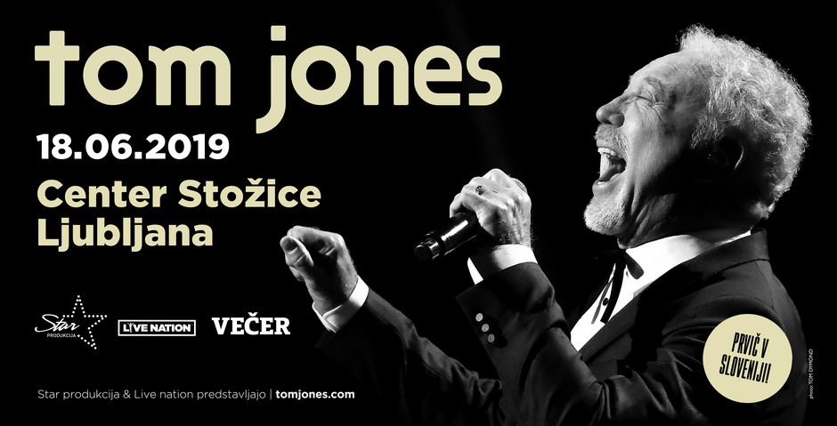 Razposajeni Tom Jones junija v Ljubljani (foto: Tom Jones Press)
