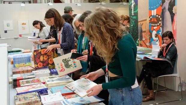 Mladinska knjiga na knjižnem sejmu v Bologni 2019 z Lilo Prap in Ano Zavadlav (foto: profimedia)