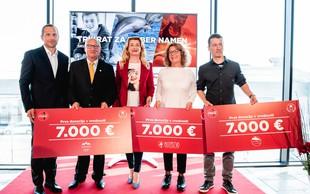 Družba Coca-Cola podelila prvo donacijo zmagovalcem akcije #vednopodpiraj dober namen