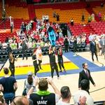 Miamijska vročica zajela slovenske navijače (foto: Afrodita)