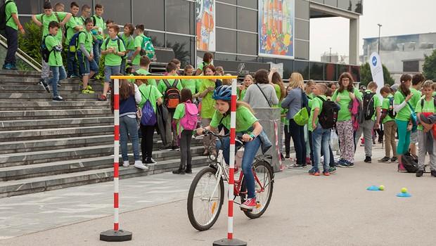 Program varno na kolesu letos povezuje več kot 3300 učencev (foto: Varno na kolesu Press)