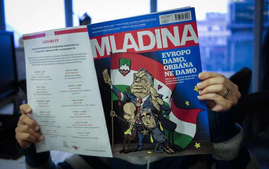 Drama mednarodnih razsežnosti zaradi zadnje naslovnice Mladine! (foto: Tamino Petelinšek/STA)