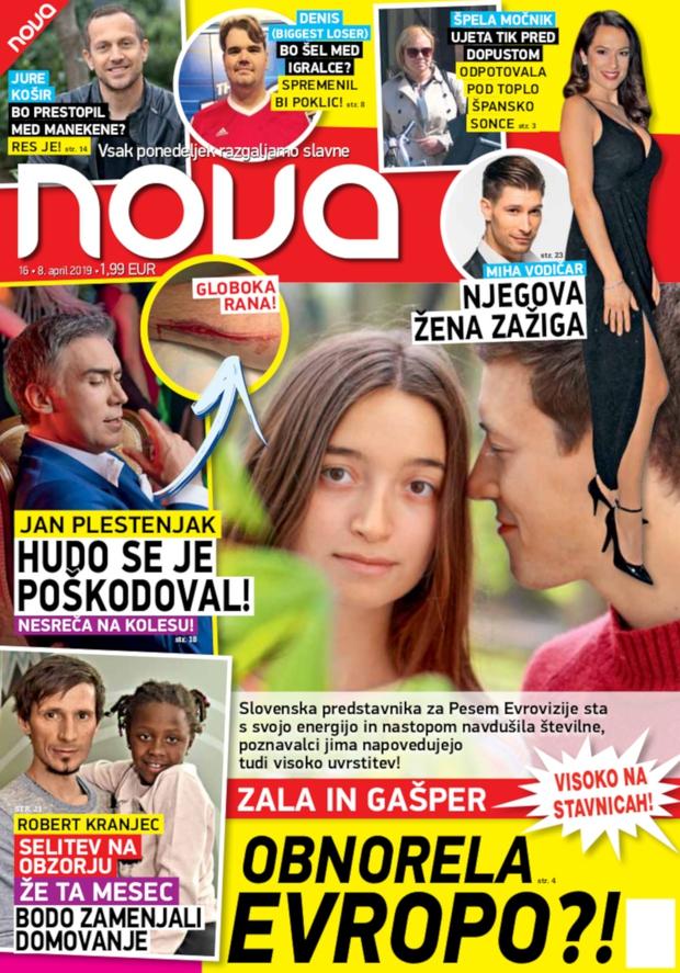 Zala in Gašper obnorela Evropo (foto: Nova)