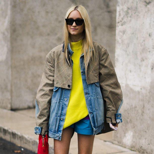 March 4, 2019 - Paris, France - Charlotte Groeneveld poses wearing Sacai jacket and a Balenciaga bag after the Sacai …