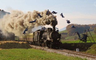 Peklenski parni Dunking Devils vlak bo senzacija brez primere!