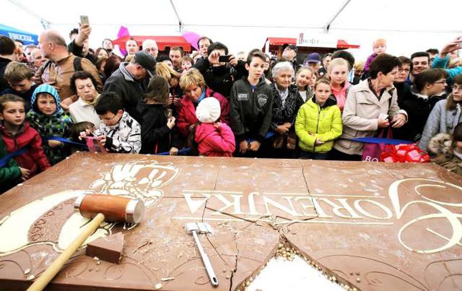 V Radovljici začetek festivala čokolade (foto: Daniel Novakovič/STA)
