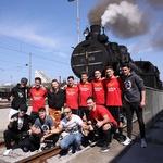Na muzejskem parnem peklenskem Danking Devils vlaku! (foto: Dunking Devils Press)