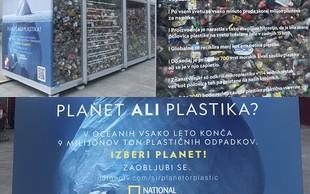 National Geographic Slovenija z instalacijo in vprašanjem: Planet ali plastika?
