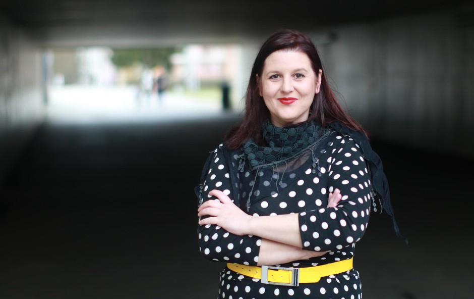 Ana Marčun: Pevka in članica umetniškega vodstva zasedbe Perpetuum Jazzile (foto: Goran Antley)
