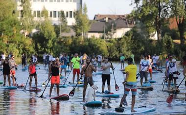 100 supov na Ljubljanici za čisto reko #SUPportCleanWaters
