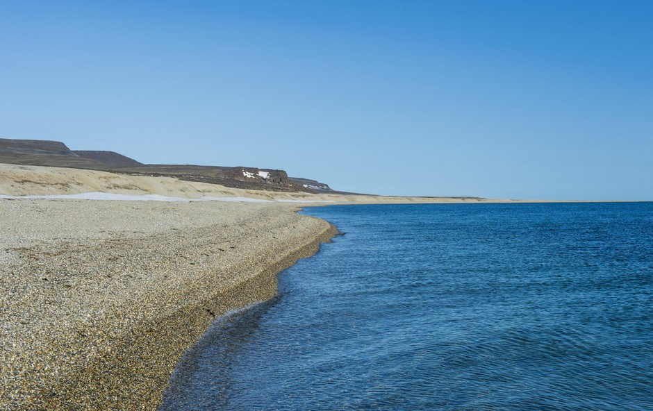 Long deserted beach, Torellneset, Arctic, Svalbard, Image: 427603883, License: Royalty-free, Restrictions:, Model Release: no, Credit line: Profimedia, imageBROKER (foto: Profimedia Profimedia, Imagebroker)