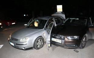 Ilirska Bistrica: Vozilo z ilegalnimi migranti bežalo in trčilo v policiste