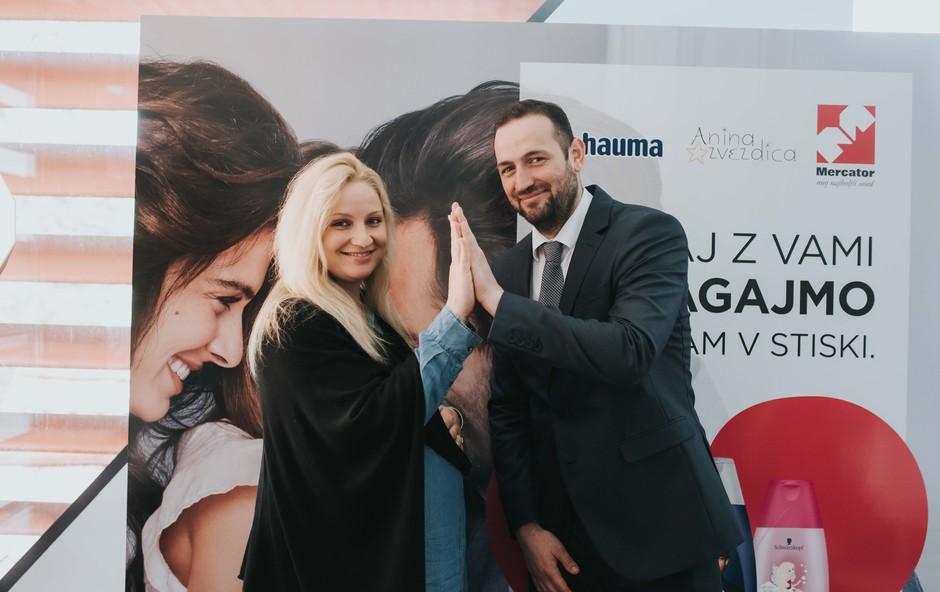 Ana Lukner Roljič, Anine zvezdice in Aleksandar Angelov, Henkel Slovenija (foto: Anina zvezdica Press)