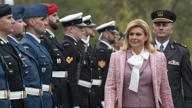 Kolinda Grabar-Kitarović v Kanadi presenetila s svojo modno kombinacijo (foto: Profimedia)