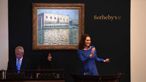 Slika iz Monetove serije senenih kopic prodana za rekordnih 111 milijonov dolarjev (foto: Profimedia)