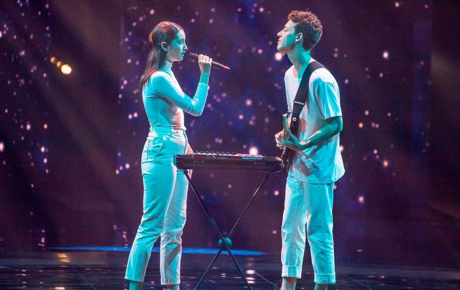 """Zala Kralj in Gašper Šantl iz Tel Aviva: """"Res sva si želela v finale!"""" (foto: profimedia)"""