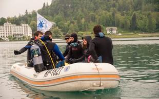 S potapljači očistili Blejsko jezero za več kot 6 m3 odpadkov
