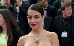 Ronaldova Georgina na rdeči preprogi v Cannesu ukradla vso pozornost