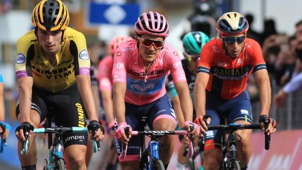 Zgodovinski uspeh slovenskega kolesarstva: Primož Roglič tretji na dirki po Italiji (foto: profimedia)