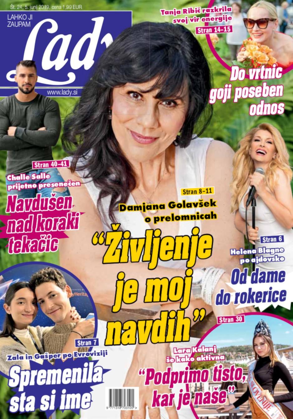 """Damjana Golavšek o prelomnicah: """"Življenje je moj navdih."""" (foto: Lady)"""