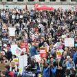 Na protestu proti Trumpu v Londonu več tisoč ljudi
