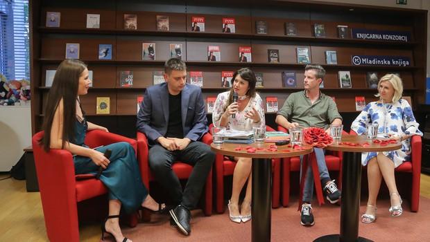 Znani so promovirali branje knjig, piar je pomemben, Tanja Skaza je ob knjigi tudi jokala (foto: Barbara Reya)