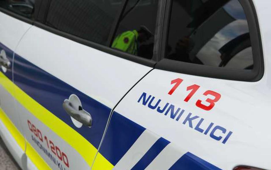 Pri begu pijan in brez veljavne vozniške oplazil policijsko vozilo (foto: STA)