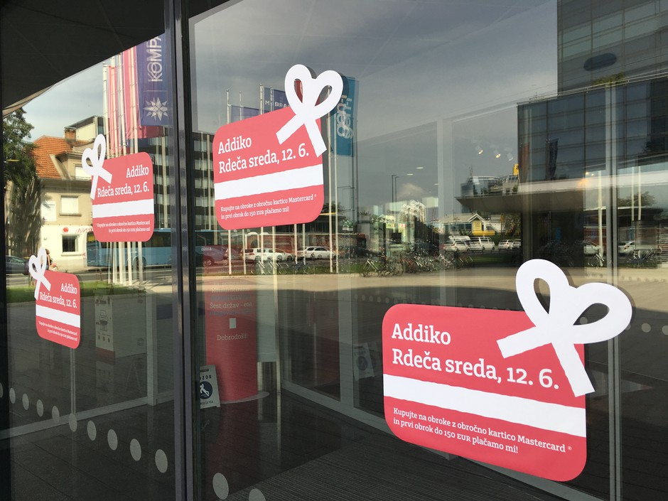 Addiko banka vam na 'Rdečo sredo' podari prvi obrok (foto: Addiko Press)