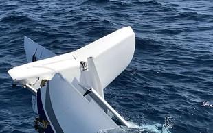 Slovenci rešili nemškega pilota strmoglavljenega letala iz morja