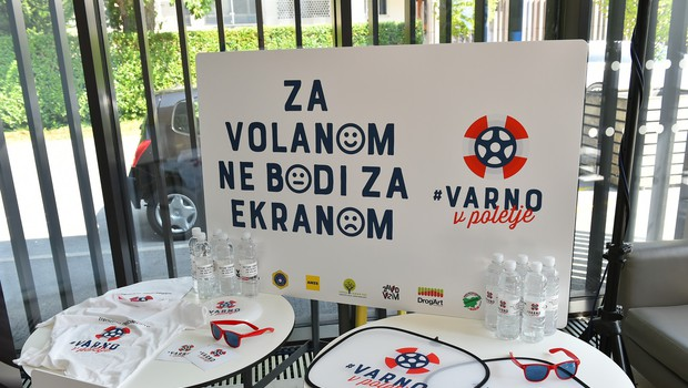 Združeni za večjo varnost v prometu z akciju #VarnoVPoletje (foto: Varno v poletje Press)