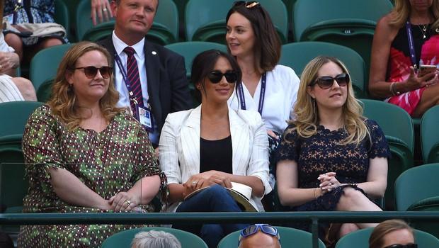 Meghan spet presenetila - nihče je ni pričakoval v Wimbledonu! (foto: Profimedia)