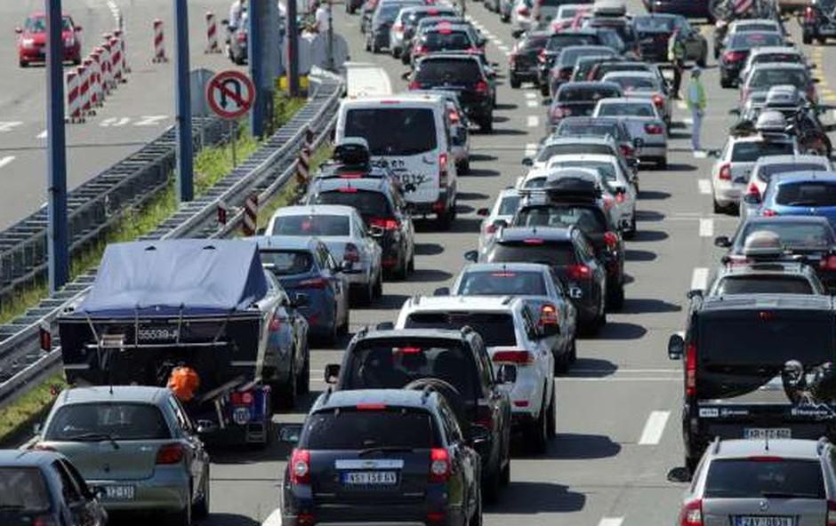 Prometni kolaps v Splitu in okolici (foto: STA)