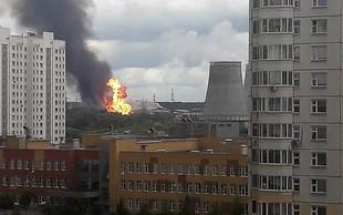 V toplarni blizu Moskve izbruhnil požar, več ljudi je poškodovanih!