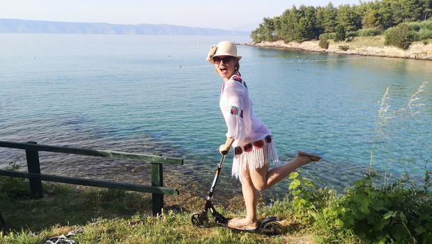Anji Markovič je zadnja leta, kar se dopusta tiče, pri srcu kamp (foto: Osebni album)
