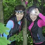 Betka Šuhel Mikolič in Metka Albreht že ob trdi temi dvigujeta srčni utrip (foto: Foto: Aleksandra Saša Prelesnik)